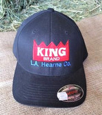 Ball Cap, King Brand Ball Cap Black Solid, embroidered logo flex fit (L/XL)