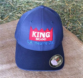 Ball Cap, King Brand Ball Cap, Gray with embroider logo Red white Solid Winter Flexfit (L/XL)