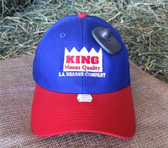 Ball Cap, King Brand Ball Cap Solid Winter Red Blue Style, embroider logo, adjustable velcro back