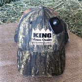 Ball Cap, King Brand Camo embroider logo king brand ball cap by Mossy Oak, adjustable velcro back