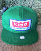 Ball Cap, King Brand Winter Solid Green Ball Cap Adult Size, Adjustable back plastic snaps