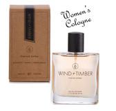 "Tru Fragrance, Women's Cologne ""Wind + Timber""  vintage woods Eau De Cologne (1.7 fl. oz.)"