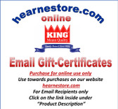 Purchase Email Gift Certificates for online use at hearnestore.com (click on the link in the description)
