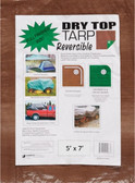Tarp, Dry Top Reversible Tarp, Full Finished Size 12' x  20' Brown/Green (Better)