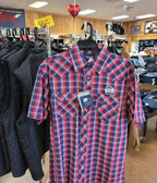 Wrangler Men's Short Sleeved Shirt,  Snap/Plaid (available in store only)