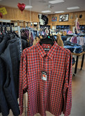 "Wrangler Men's Long Sleeved ""Authentic Western"" Snap Shirt, Plaid/ Wash N Wear  (available in store only)"