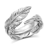 Jewelry, Montana Silversmiths Sterling Silver Feather Ring (Size 8)