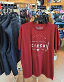 CINCH XXL Men's Red Tee Shirt (Available in store only)
