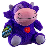 Dog Toy, by Hero Innovations in Play, Chuckles (Large Purple Cow)