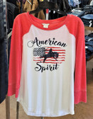ARIAT Ladies American Spirit Tee, White  (Available In Store Only)