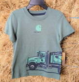 Carhartt Boy's Cotton short/sleeve T Shirt, shown in size 2 (available in store only)