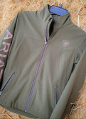 ARIAT TEK Ladies New Team Softshell Jacket Cold Series in brine olive green (available in store only)