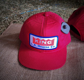 Ball Cap, KING Red Solid (with adjustable snap back closure)