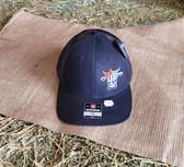 Ball Cap, GP Steer Logo Low Pro Medium Large Black with Black Mesh (with adjustable snap back)