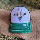 """Ball Cap, """"Goat Your Own Way"""" Green with Black Mesh (adjustable yellow snap back) Child's Size"""