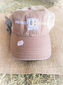Ball Cap, Umbarger Hearne Show Feeds Soft Light Weight Pastel Brown with Sand Color  Mesh  (adjustable snap back)