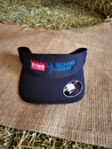 Ball Cap, VISOR KING Black with embroidered logo (with adjustable Velcro back)