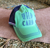 Ball Cap, by Cruel, Green with Navy Summer Mesh (with adjustable snap back)