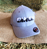 Ball Cap, Cinch Gray Solid with embroidered logo (flexfit fits adult small-medium)