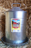 Waterer, Little Giant Double Wall Poultry Fount/Waterer, with lid, 3 gal.