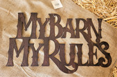 Giftcraft Metal Home Décor My Barn My Rules