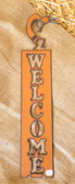 "Home Décor Burnt Metal Cutout ""Welcome"" Sign (King City)"
