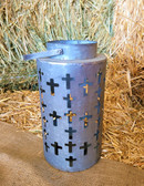 Western Moments Beaming Crosses Tin Candle Holder (King City)