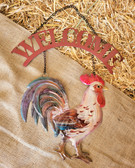GiftCraft Wall Hanging Tin Painted Rooster (King City)