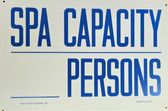 """Clearance Sale """"Spa Capacity ____Persons"""" Sign for Spa (King City)"""