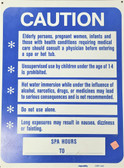 """Clearance Sale """"Caution before entering a spa or hot tub"""""""