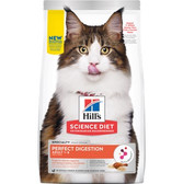 Cat Food, Hills Science Diet Veterinarian Recommended Perfect Digestion Adult Cat Food 1- 6 year old,  3.5 lb.