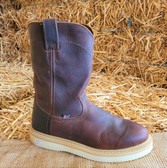 Justin Pull on Men's Work Boots Dark Brown #4908 (Available in store only) King City