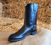 """Justin Men's Round Toe Black Boots """"Roper Style""""  #3133 (available in store only) King City"""