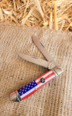 Pocket Knife, Hooey Red White & Blue FLAG (two knives)