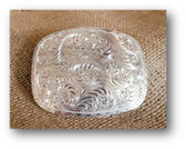 Buckle, Montana Silversmith's Fancy Engraved Silver Oval #840