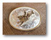 Buckle, Montana Silversmiths Gold Rope Bull Rider #13401 528