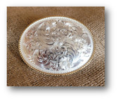 Buckle, Montana Silversmiths Large Oval Fancy Engraved #840