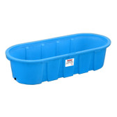 Waterer, Behlen Blue 328 Poly Round End Stock Tank approx. 300 gal 3' wide x 2' high x 8' length #52112187 #850068 (in store pick up only)