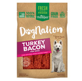"""NEW Freshpet DOGNATION® TURKEY BACON TREATS (BACON SHAPED) FOR DOGS """"Real FRESH from the fridge"""" 3 oz. (Available for in store pick up ONLY, in King City)"""
