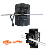 Gallagher Electric Fencing Component, HD T-Post Wide Jaw Pinlock Insulator #G682034, 20 pack, Black Color