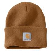 Beanie, Carhartt Knit Cuffed Beanie/Watch Hat (Carhartt Brown A18-BRN) Stretchy...one size fits adults: Small Medium Large