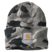 Beanie, Carhartt Knit Cuffed Beanie/Watch Hat (Camouflage Blacks and Grays RN14806) Stretchy...one Fits Adults Large and EXTRA LARGE Sizes