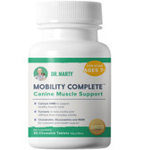 Dog Supplement, Dr. Marty Mobility Complete, Canine Muscle Support, 30 Tablets (for dogs 7 years or older)