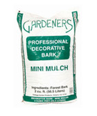 Garden Bark/Mulch, Gardeners Professional Decorative Bark Mini Mulch  cu. ft.  available for in store pick up only