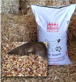 GRAIN, King Hen Scratch 9% Protein, 25 lb. (Supplement For Poultry)  quality ingredients grown & packaged in the USA