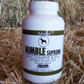 Adeptus NIMBLE Supreme Glucosamine & H.A. Supplement for Dogs & Cats, 120 tablets