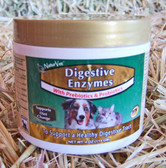 Dog Health Supplement, NaturVet Digestive Enzymes with Prebiotics & Probiotics, for Dogs & Cats, 4 oz