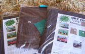 Dry Top Reversible Tarp, Full Finished Size 10' x  20' Brown/Green