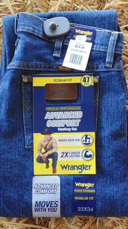 1e765636 Wrangler Men's Regular Fit Premium Performance Advanced Comfort Cowboy Cut  Jeans