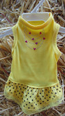 Canine BWW  Yellow Dress, For Small Dog (Pet Clothing at our King City store)
